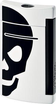 S.T. Dupont miniJet 10056 - vit med svart dödskalle