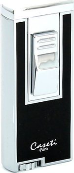 Caseti cigarrtändare jetlåga krom/svart