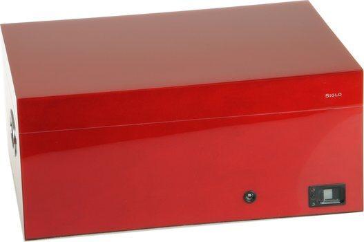 Siglo Humidor fingeravtryck röd
