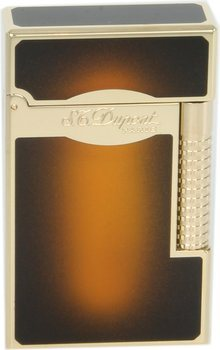 ST Dupont Line 2 tändare Le Grand solskensbrun lack / guld