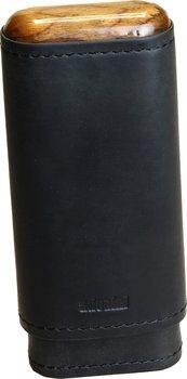 adorini cigarrväska i äkta läder, svart 2/3