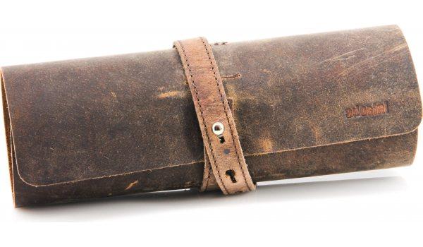 Adorini Cigarrulle äkta läder brun