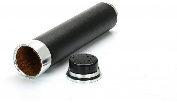 Resehumidor för 3 cigarrer Svart/Guld
