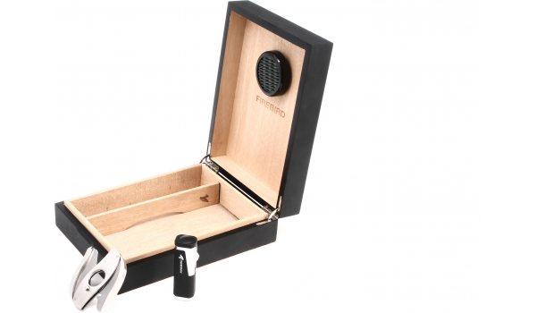 Colibri Firebird Humidor-Set - för 20 cigarrer - svart/matte