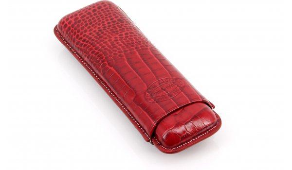 Romeo och Julia cigarrfodral läder 2 cigarrer Röd