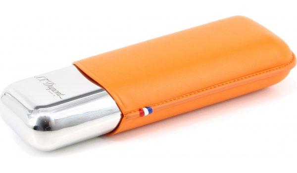 ST Dupont Metall Dubbelt Cigarrfodral Orange