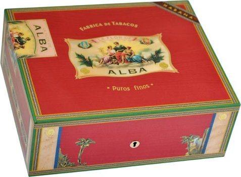 Elie Bleu Flor De Alba Humidor 75-Cigarrer Röd