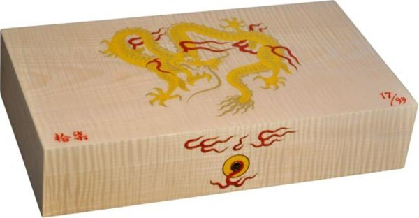 Elie Bleu Golden Dragon Limited Edition Humidor Natural Sycamore
