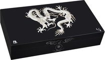 Elie Bleu Mother-of-Pearl Dragon Limited Edition Humidor svart