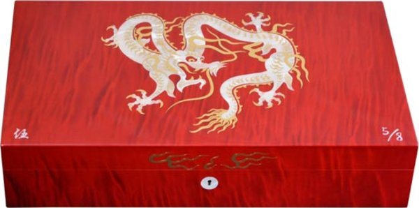 Elie Bleu Mother-of-Pearl Dragon Limited Edition Humidor Röd