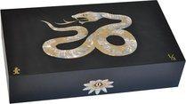 Elie Bleu Mother-of-Pearl Snake begränsad utgåva Humidor svart (Numrerad 1-8)