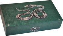 Elie Bleu Mother-of-Pearl Snake begränsad utgåva Humidor Grön (Numrerad 1-8)