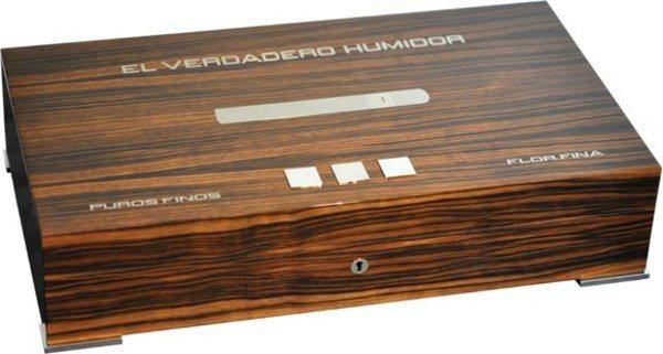 Elie Bleu Nytt Medal Humidor 110-Cigarrer Ebenholts