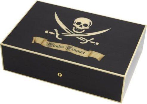 Elie Bleu piratens skatt Humidor Svart Sycamore 110 cigarrer