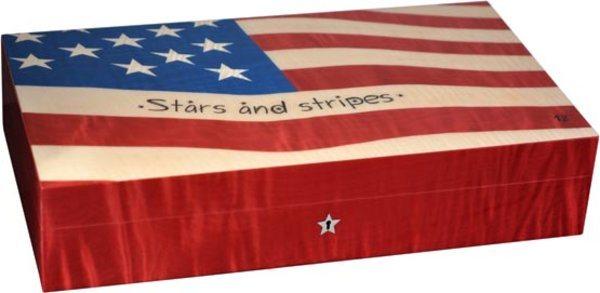 Elie Bleu Stars & Stripes flagga Humidor 110-Cigarrer