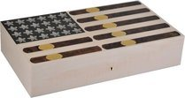 Elie Bleu Stars & Stripes Limited Edition Humidor 110 Cigarrer