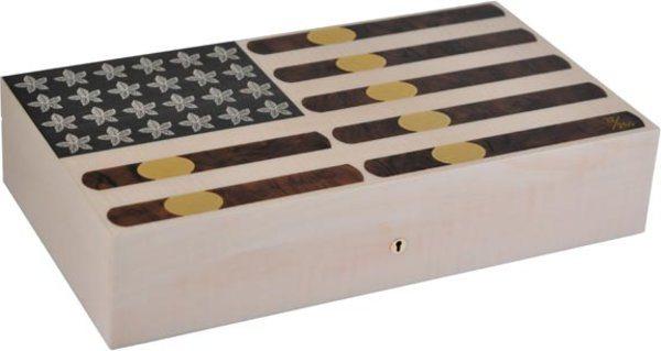 Elie Bleu Stars & Stripes Limited Edition Humidor 110 Cigarrer