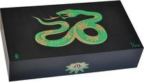 Elie Bleu Sycamore Intarsia Snake begränsad utgåva Humidor svart (Numrerad 1-888)