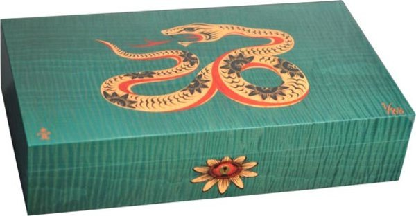 Elie Bleu Sycamore Intarsia Snake begränsad utgåva Humidor Grön (Numrerad 1-88)