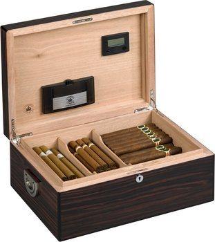 Diamond Crown The Alexander Humidor för 160 Cigarrer Ebony Gloss