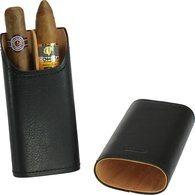 Cigarretui äkta läder 2-3 cigarrer svart