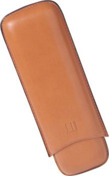 Dunhill terracotta cigar case for two Robusto