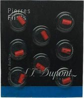S.T.Dupont flints - 8pc red