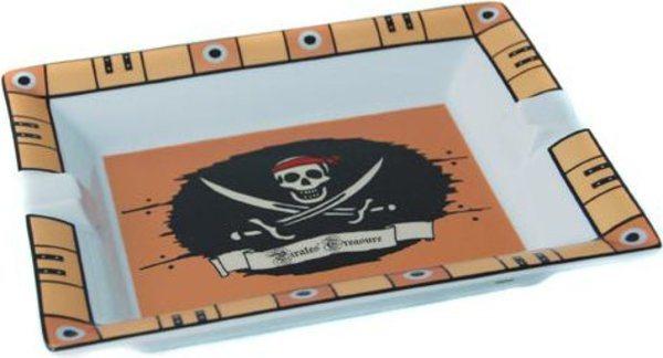 Elie Bleu Porslinsaskfat Piratskatt