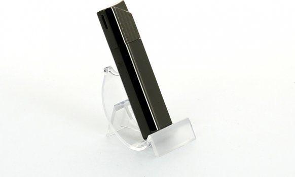 Sarome tändare i pressad svart nickel galler/matt siden