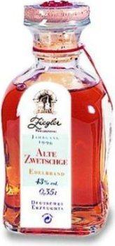 Ziegler Old Zwetschge Plum 0,35l - 1996 skörd - eau de vie